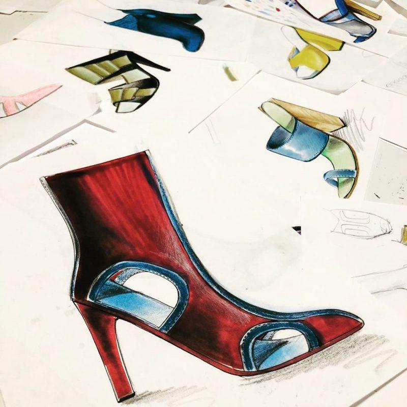 Diseño de calzado de mujer.